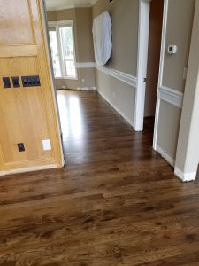 Hickory Hardwood Floor Stained With Jacobean A Max